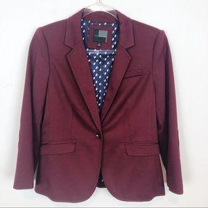 The Limited Jackets & Coats - THE LIMITED BURGUNDY BLAZER SZ M